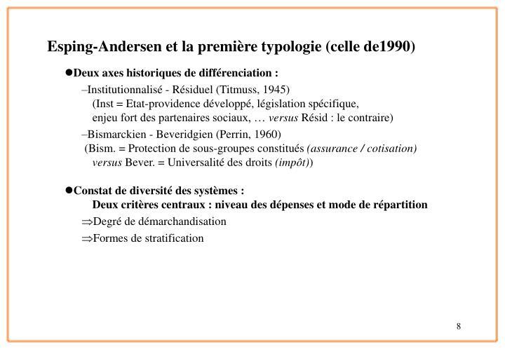 Deux axes historiques de différenciation :