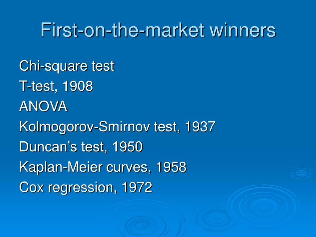 First-on-the-market winners