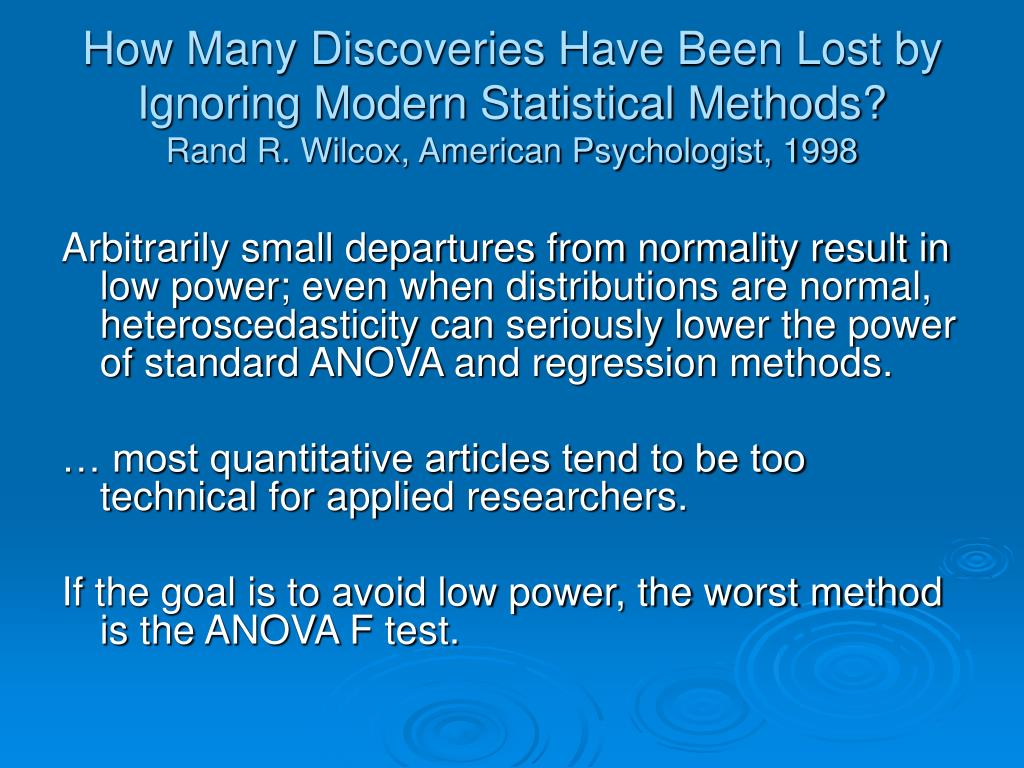 How Many Discoveries Have Been Lost by Ignoring Modern Statistical Methods?