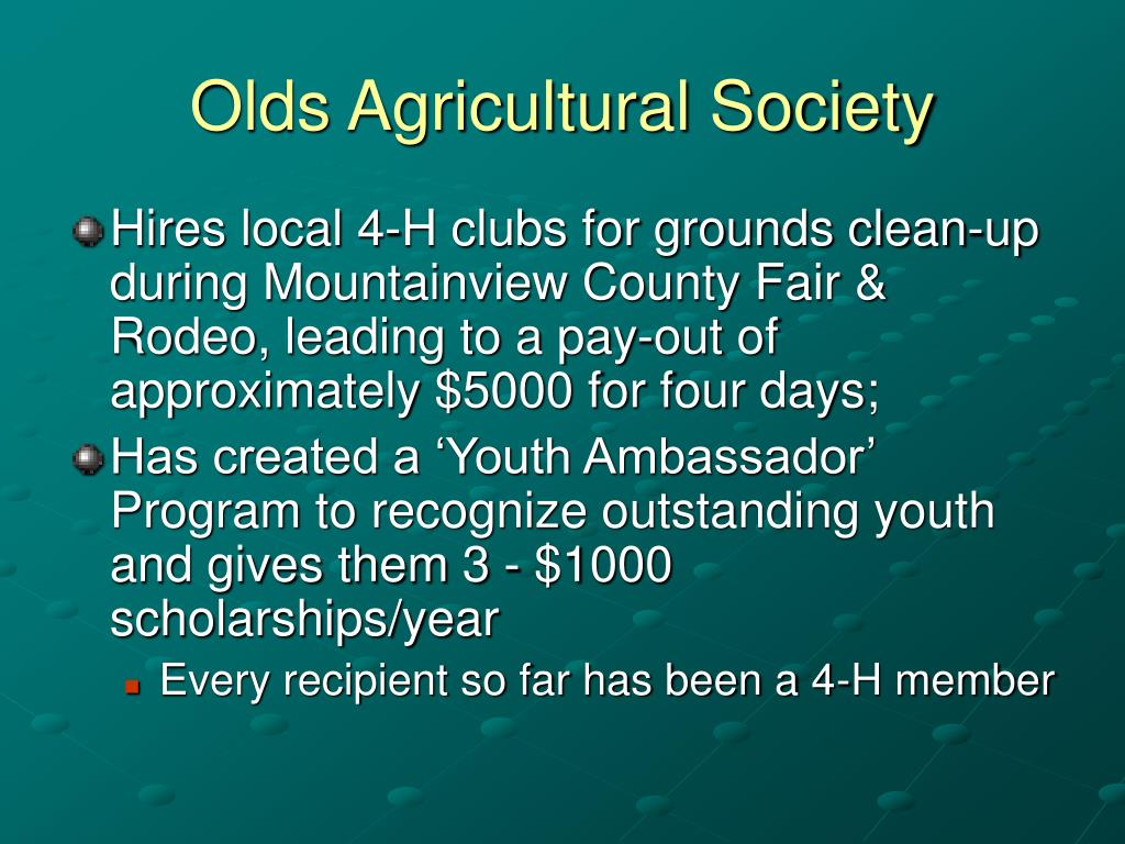 Olds Agricultural Society