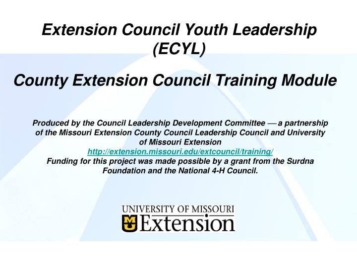 Extension Council Youth Leadership