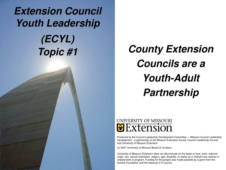 Extension council youth leadership ecyl topic 1