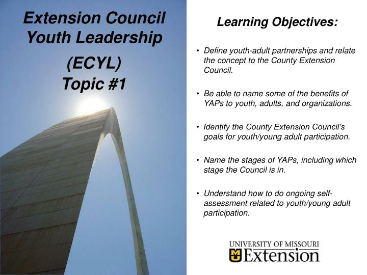 Extension council youth leadership ecyl topic 11