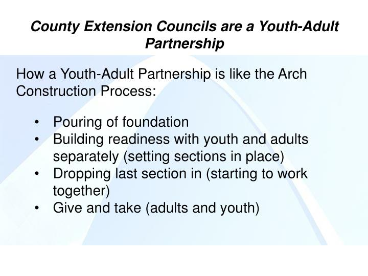 How a Youth-Adult Partnership is like the Arch Construction Process: