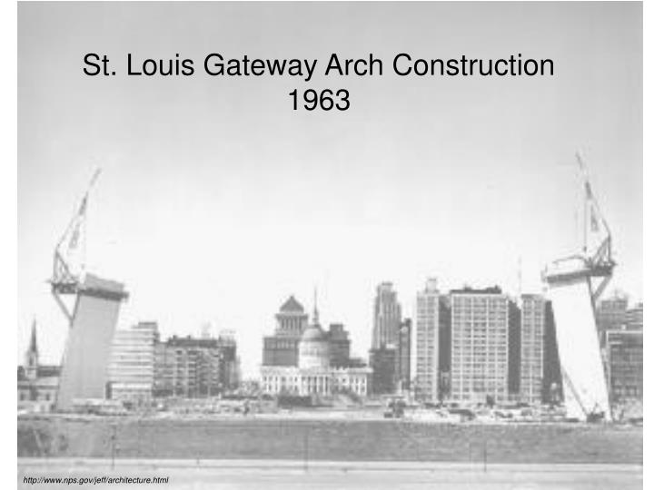 St. Louis Gateway Arch Construction