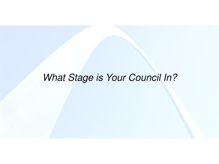 What Stage is Your Council In?