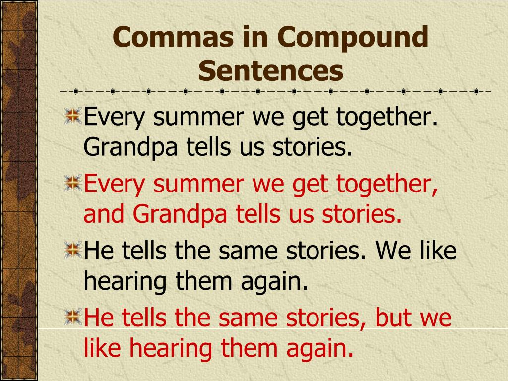 Commas in Compound Sentences