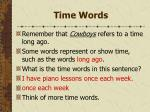 time words