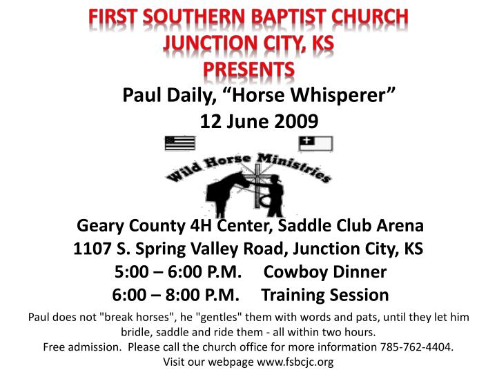 First Southern Baptist church