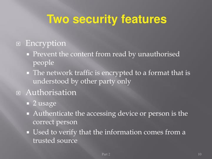 Two security features
