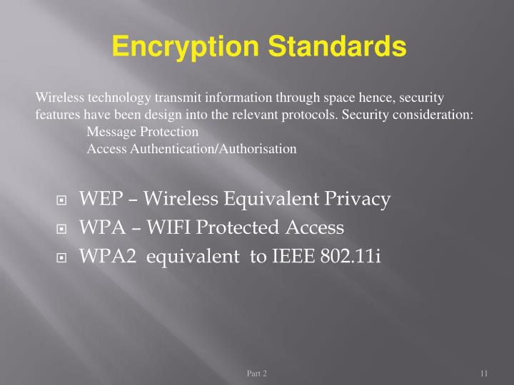 Encryption Standards
