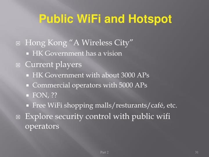Public WiFi and Hotspot