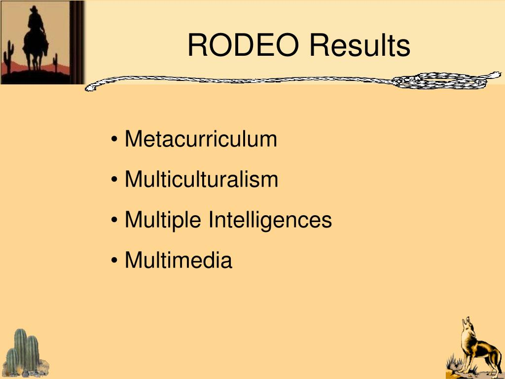 RODEO Results