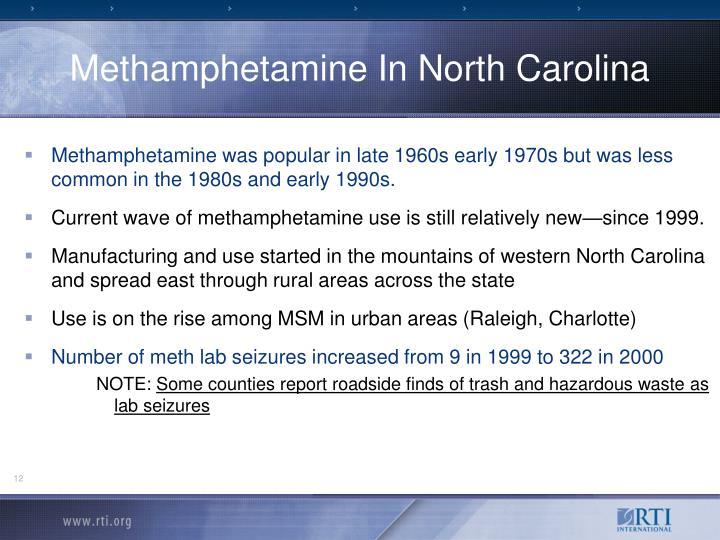 Methamphetamine In North Carolina