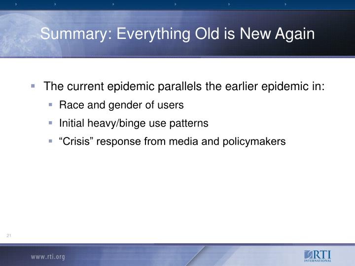 Summary: Everything Old is New Again