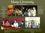 maejo university our host institution