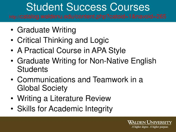 Student Success Courses