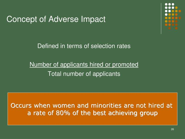 Concept of Adverse Impact