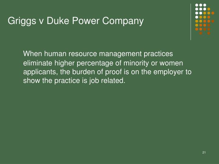 Griggs v Duke Power Company