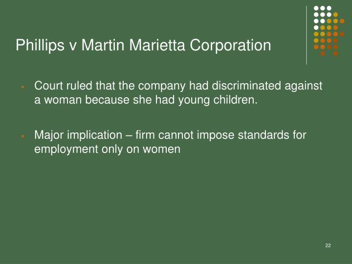 Phillips v Martin Marietta Corporation