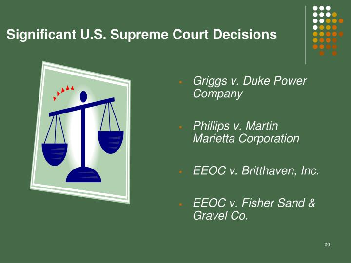 Significant U.S. Supreme Court Decisions