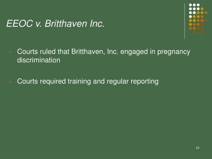 EEOC v. Britthaven Inc.