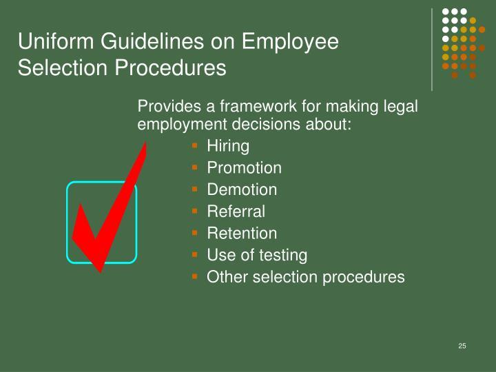 Uniform Guidelines on Employee Selection Procedures