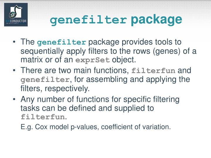 genefilter