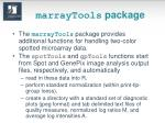 marraytools package