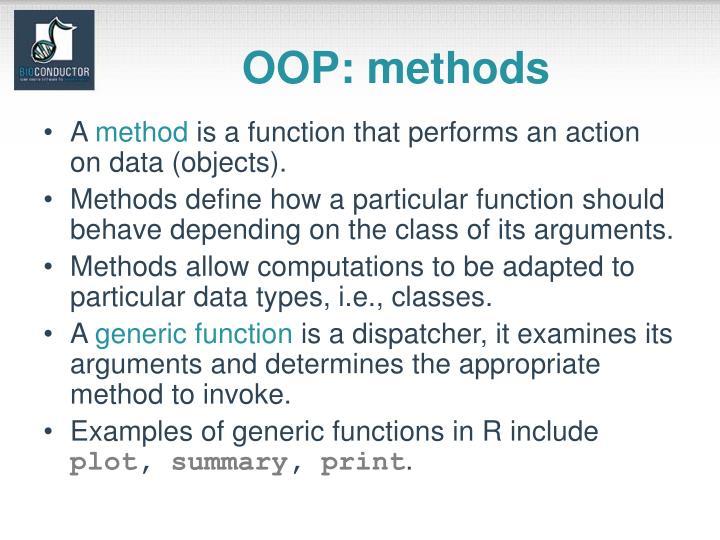 OOP: methods