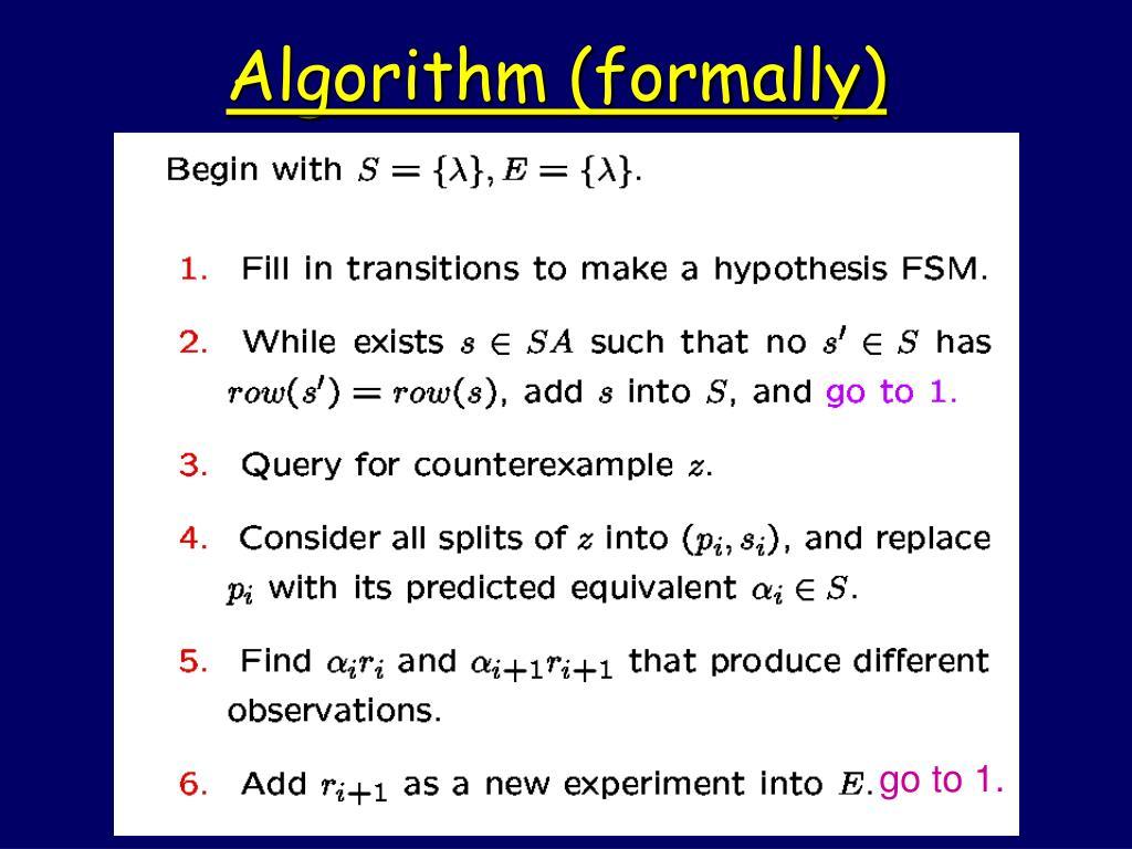 Algorithm (formally)