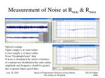 measurement of noise at r min r max