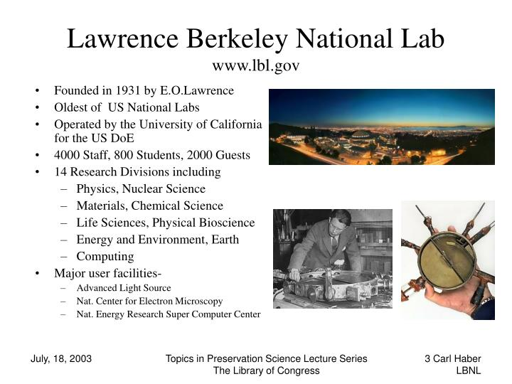 Lawrence Berkeley National Lab