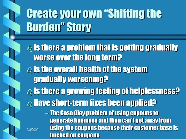 "Create your own ""Shifting the Burden"" Story"