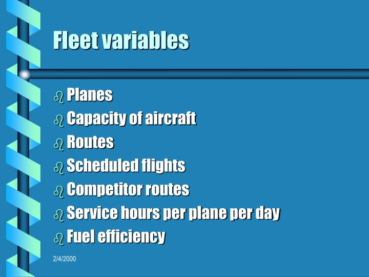 Fleet variables
