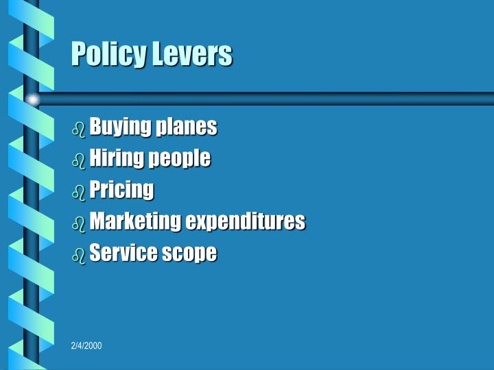 Policy Levers