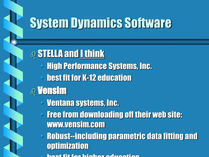System Dynamics Software