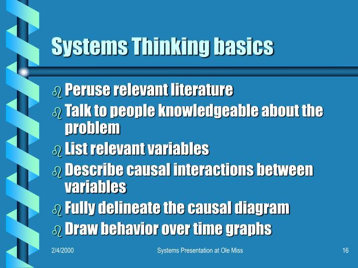 Systems Thinking basics