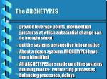 the archetypes