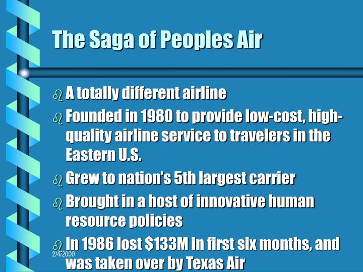 The Saga of Peoples Air