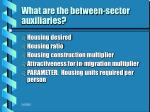 what are the between sector auxiliaries