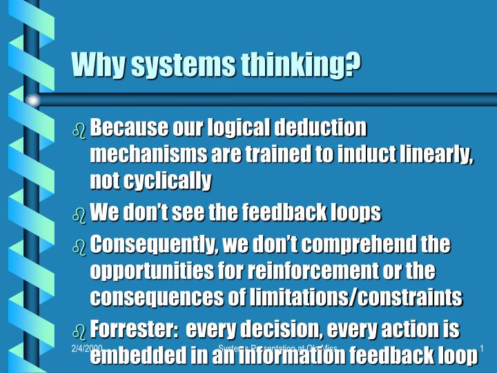 Why systems thinking