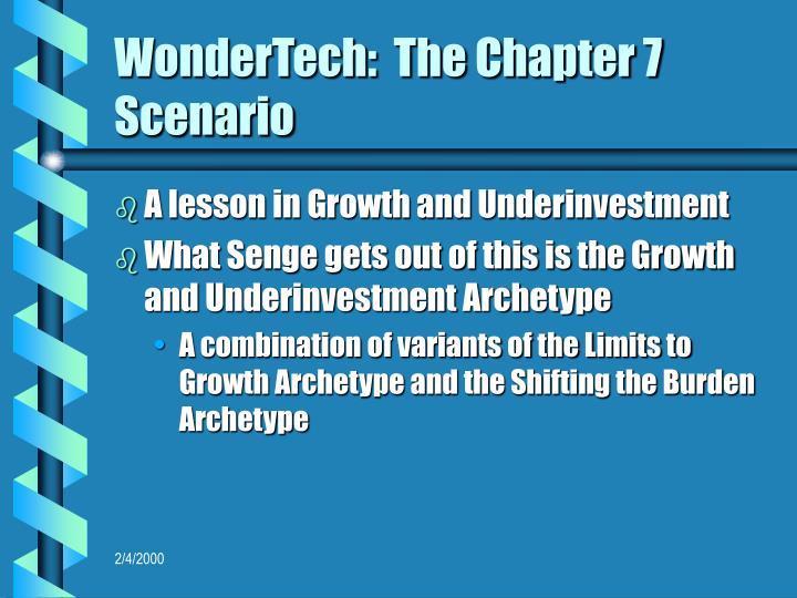 WonderTech:  The Chapter 7 Scenario