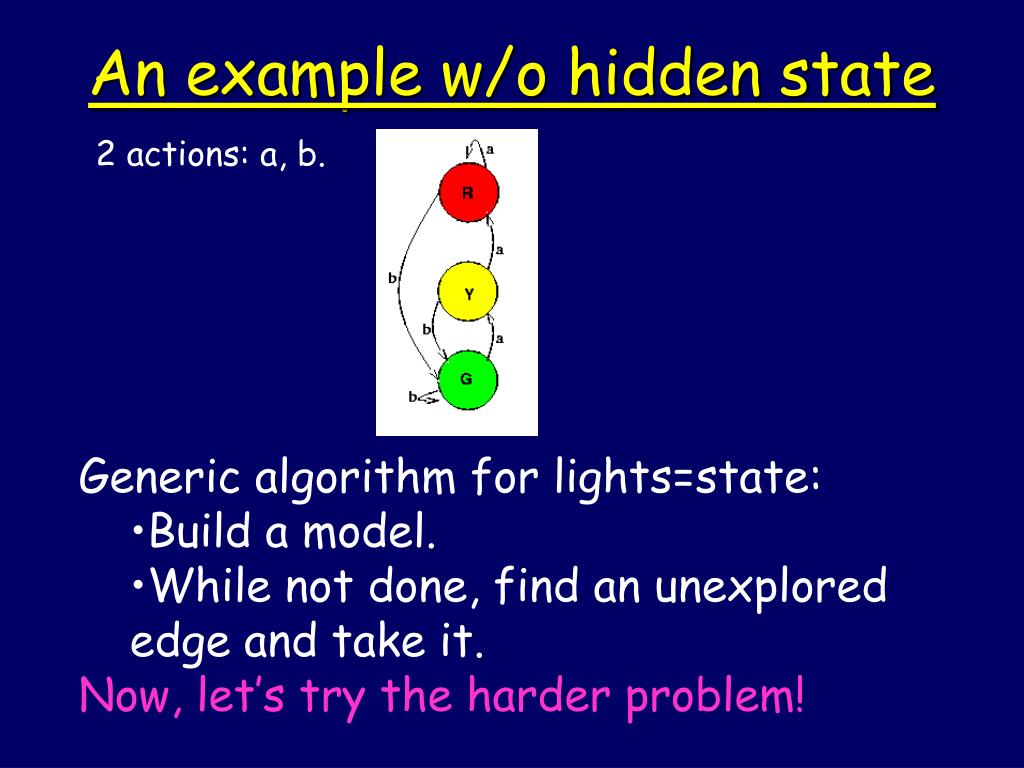 An example w/o hidden state