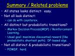 summary related problems