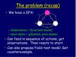 the problem recap