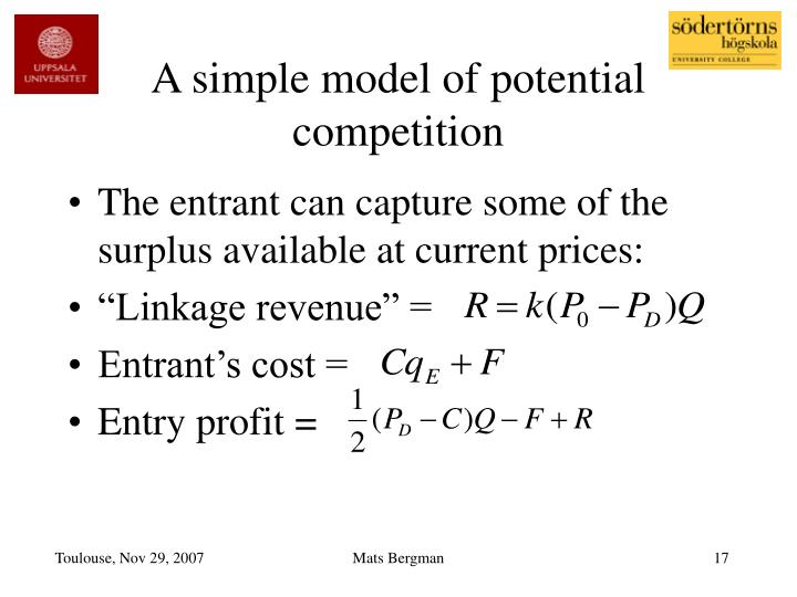A simple model of potential competition