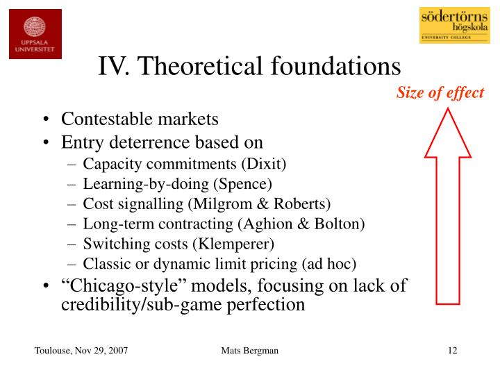 IV. Theoretical foundations