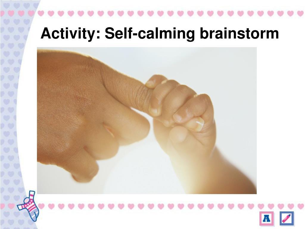 Activity: Self-calming brainstorm