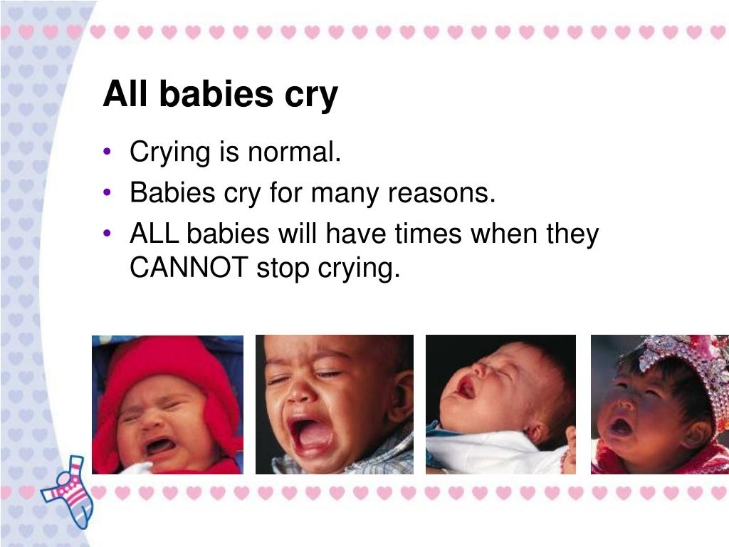 All babies cry